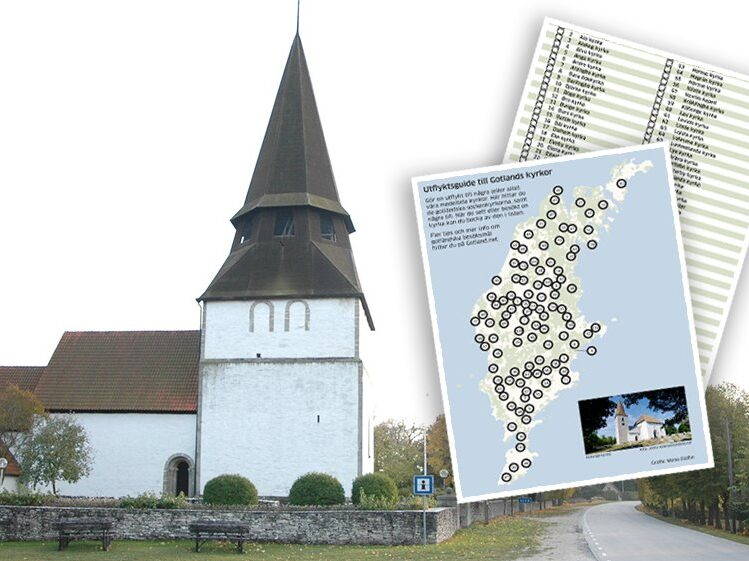 Alva kyrka, Gotland. Kryssa Kyrkor